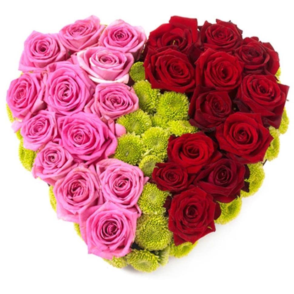 Картинки букетов роз в форме сердца фанаты